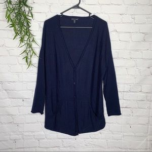 Eileen Fisher Sweaters - Eileen Fisher long Merino wool button cardigan med